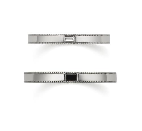 おしゃれ結婚指輪ブランドORECCHIOサファリコレクションのLF853/853