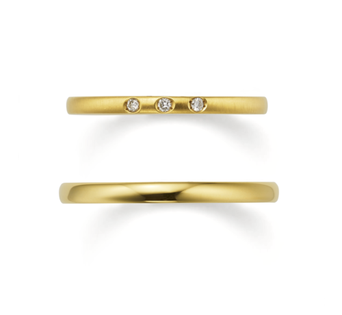 ORECCHIOオレッキオの結婚指輪でピピコレクションのLF846/847