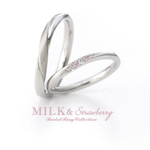 Milk&Strawberryミルク&ストロベリーの結婚指輪でアンシャンテ