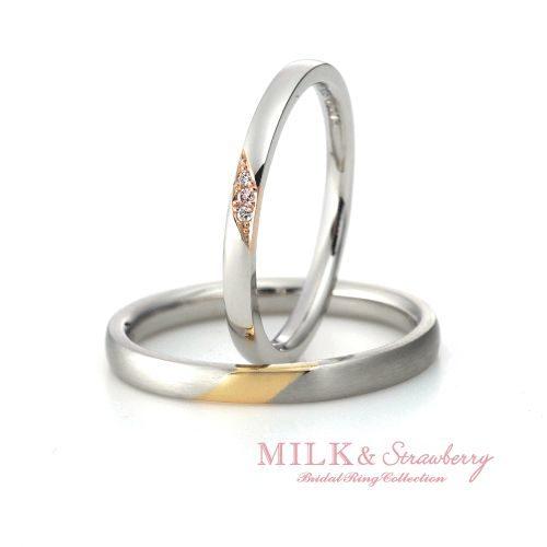 Milk&Strawberryミルク&ストロベリーの結婚指輪でエスティーム