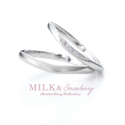 Milk&Strawberryミルク&ストロベリーの結婚指輪でエステラ
