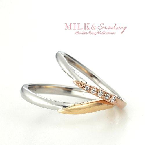 Milk&Strawberryミルク&ストロベリーの結婚指輪でエテルナ