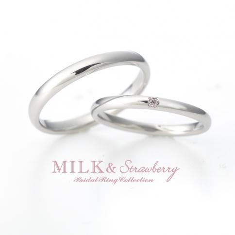 Milk&Strawberryミルク&ストロベリーの結婚指輪でオーラ