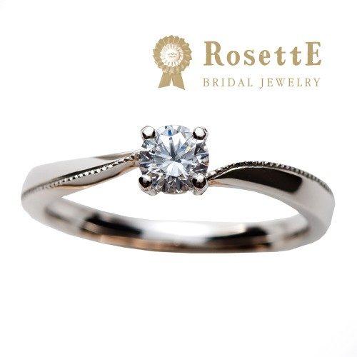 RosettEロゼットの婚約指輪でハート