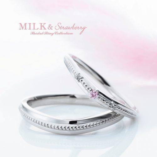M&Sミルク&ストロベリーの結婚指輪でラ・トリニーテ