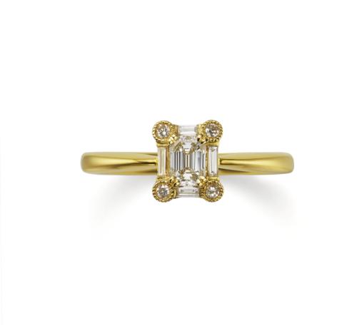 ORECCHIOオレッキオの婚約指輪でシエナコレクションのL1075