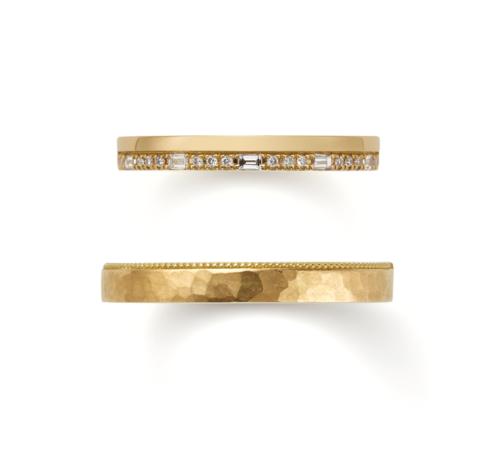 ORECCHIOオレッキオの結婚指輪でサファリコレクションのLF1698/1699ゴールド