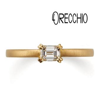 ORECCHIOオレッキオの婚約指輪でアマンコレクションのLF811のイエローゴールド