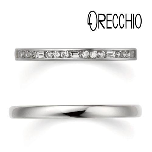 おしゃれ結婚指輪ブランドORECCHIOシエナコレクションのLF863/844