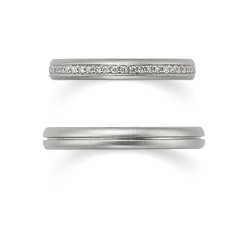 ORECCHIOオレッキオの結婚指輪でアマンコレクションのLF959/953