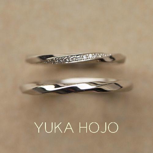 お洒落結婚指輪ブランドYUKAHOJOでレイオブライト