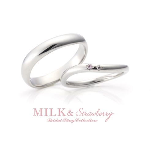 Milk&Strawberryミルク&ストロベリーの結婚指輪でルージュ