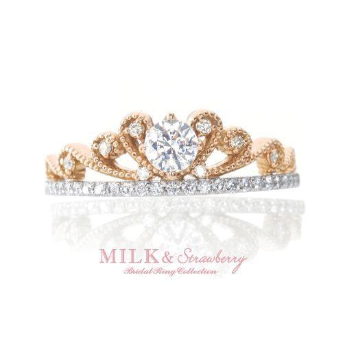 Milk&Strawberryミルク&ストロベリーの婚約指輪でサラ