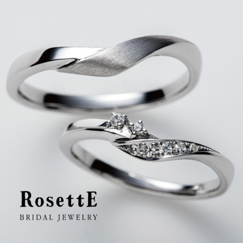 RosettEロゼットの結婚指輪でつるバラ