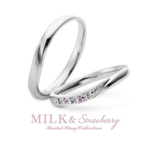 Milk&Strawberryミルク&ストロベリーの結婚指輪でアンコード