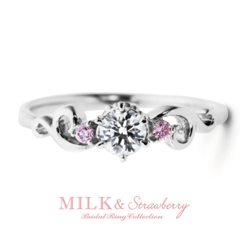 Milk&Strawberryミルク&ストロベリーの婚約指輪でアントレッセ
