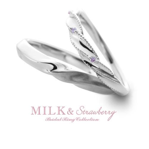 Milk&Strawberryミルク&ストロベリーの結婚指輪でアントレッセ