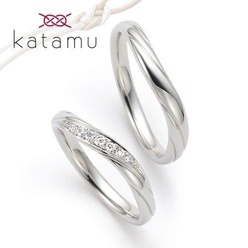 Katamuカタムの結婚指輪で木の芽風
