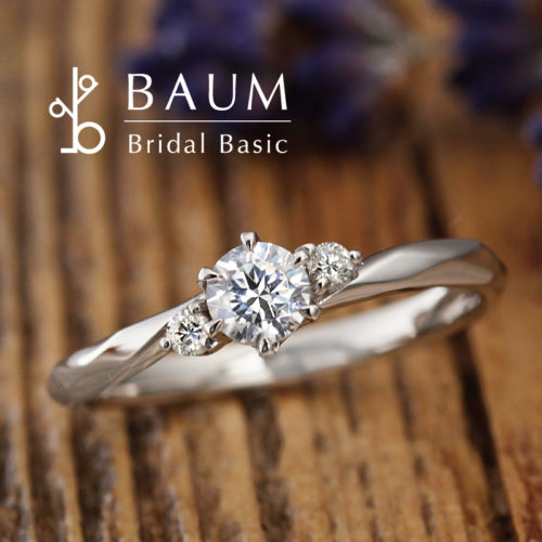 BAUMバウムの婚約指輪でマグノリア