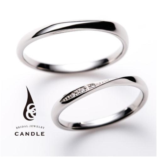 キャンドルの結婚指輪でデコラ