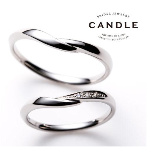 キャンドルの結婚指輪でフローティング