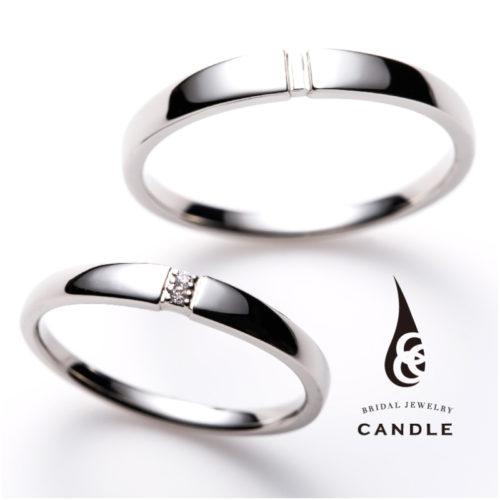 キャンドルの結婚指輪でロール