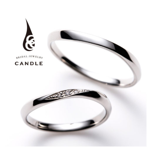キャンドルの結婚指輪でスパイラル