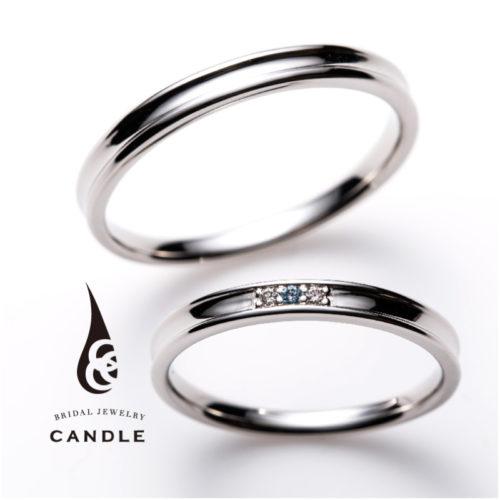 キャンドルの結婚指輪でスクエア