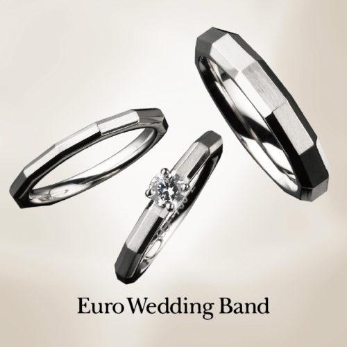 ユーロウェディングバンドの婚約指輪でE52008/25