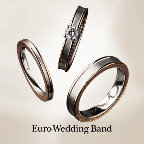 ユーロウェディングバンドの婚約指輪でE52502-30