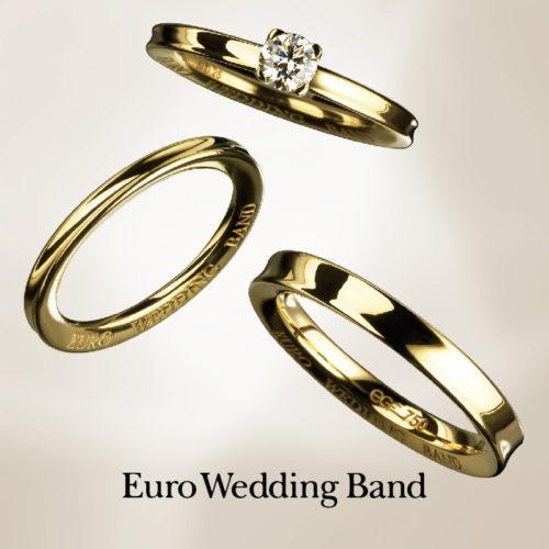 ユーロウェディングバンドの婚約指輪でE52078/20