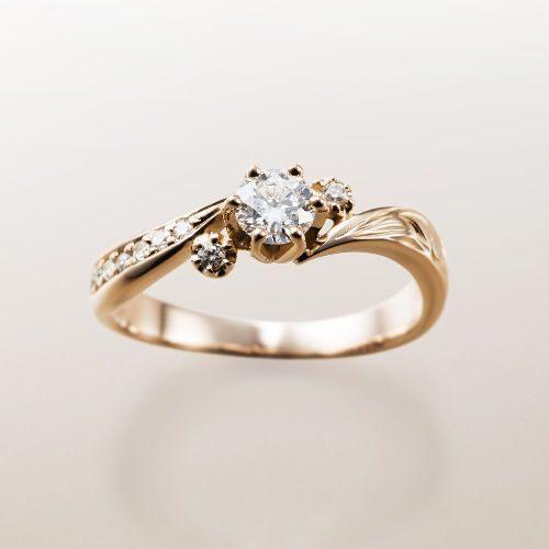 Makanaマカナの婚約指輪でME-2のピンクゴールド