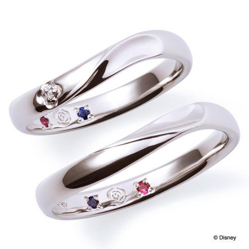 ディズニープリンセスの結婚指輪で美女と野獣