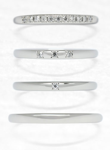 ひなの結婚指輪で十二単のストレート