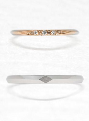 ひなの結婚指輪でひづきの上面
