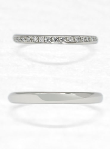 ひなの結婚指輪で瑞祈の上面