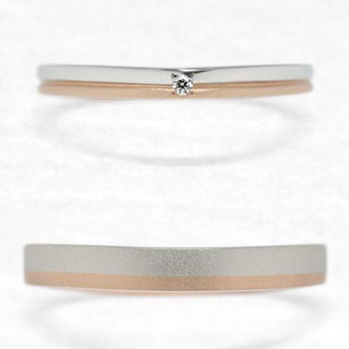 ひなの結婚指輪で八重桜の上面