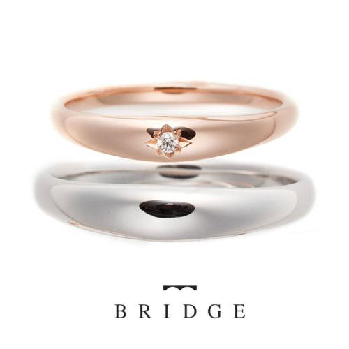 ブリッジの結婚指輪で月光