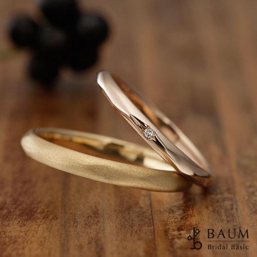 BAUMバウムの結婚指輪でカメリア