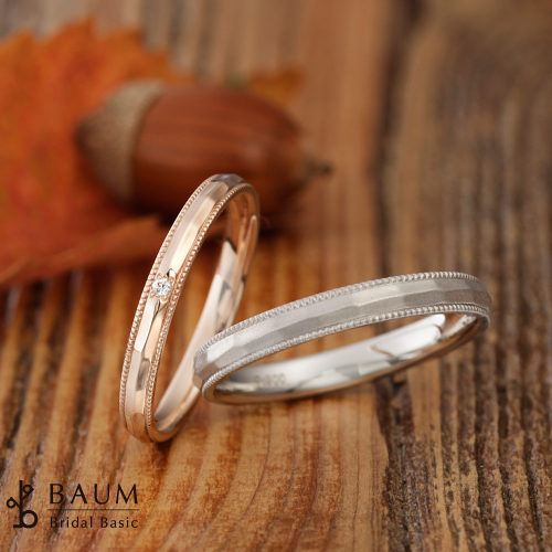 BAUMバウムの結婚指輪でクレープミルテ