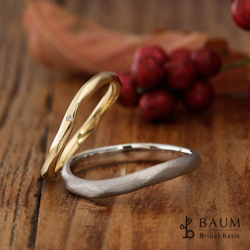BAUMバウムの結婚指輪でマグノリア