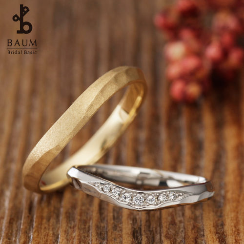 BAUMバウムの結婚指輪でオリーヴ