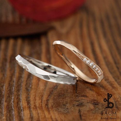 BAUMバウムの結婚指輪でピエリス