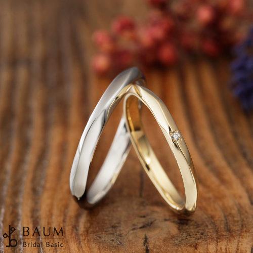 BAUMバウムの結婚指輪でハナミズキ