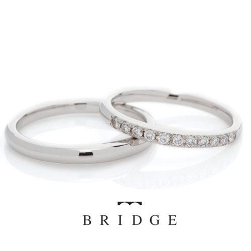 ブリッジの結婚指輪でまろぎ