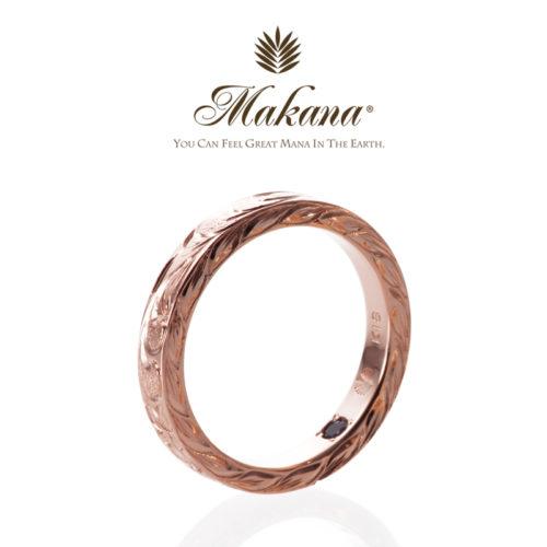 ハワイアンジュエリーMakanaマカナの結婚指輪でスリムタイプのPG