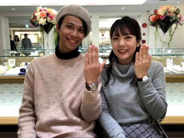 兵庫県豊岡市 gardenオリジナルの婚約指輪とAMOUR AMULETの結婚指輪