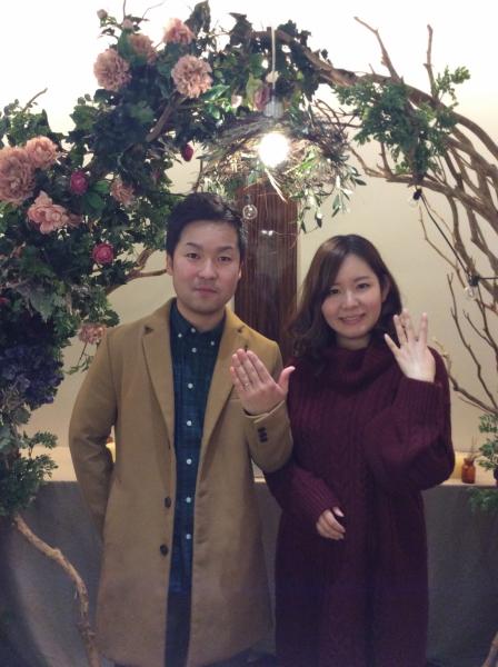 大阪府泉南市 Pink Dolphin Diamondと美女と野獣の結婚指輪