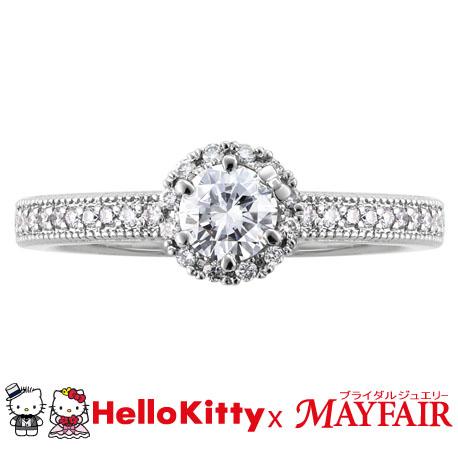 ハローキティ×メイフェアの婚約指輪でキューガーデン