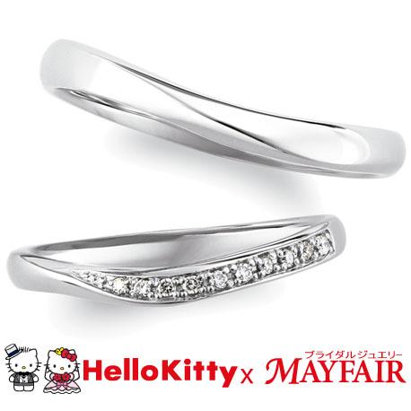 ハローキティ×メイフェアの結婚指輪でキューガーデン